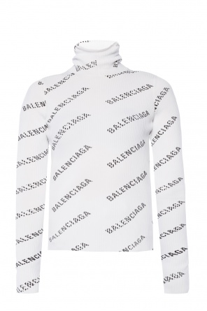 Ribbed turtleneck sweater with logo od Balenciaga